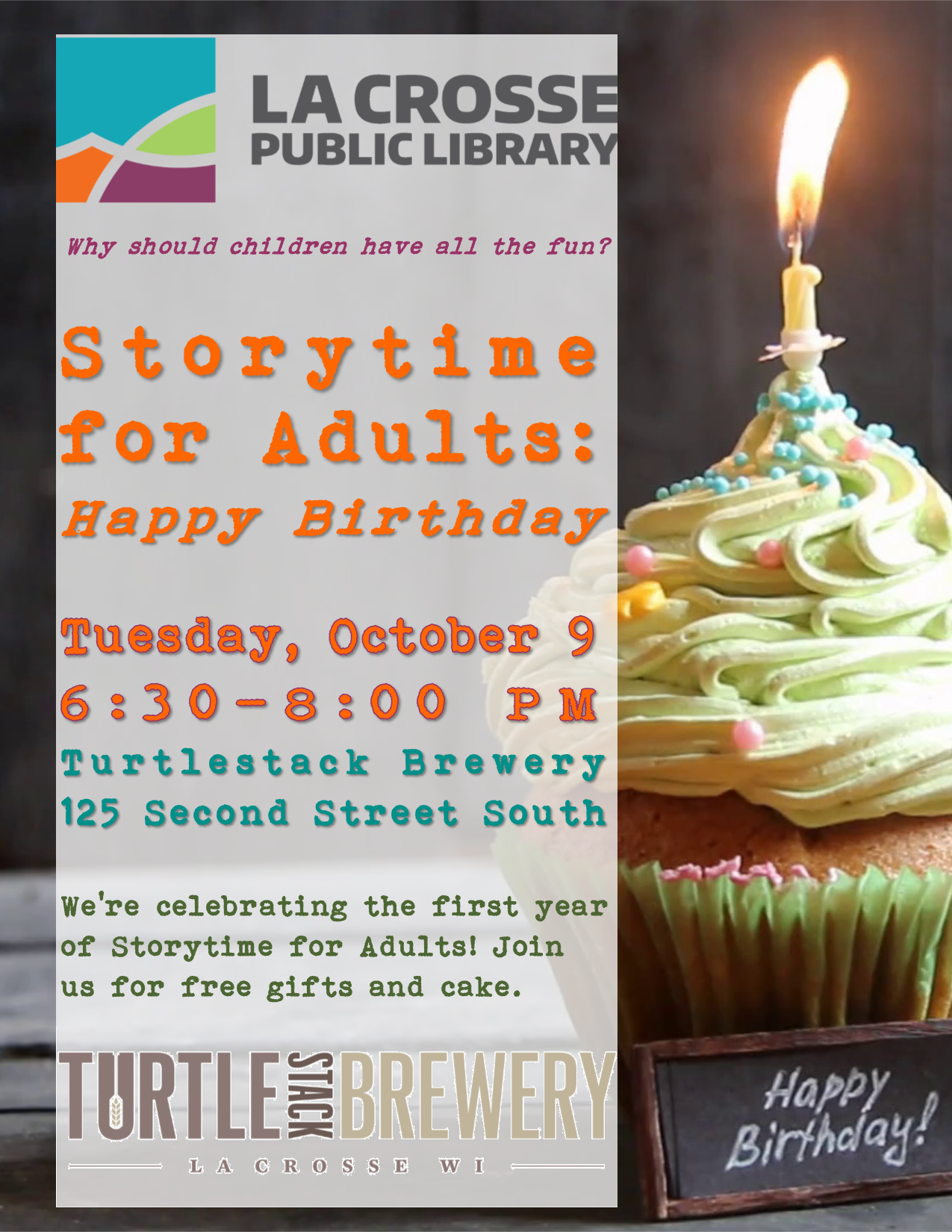 Storytime For Adults Happy Birthday