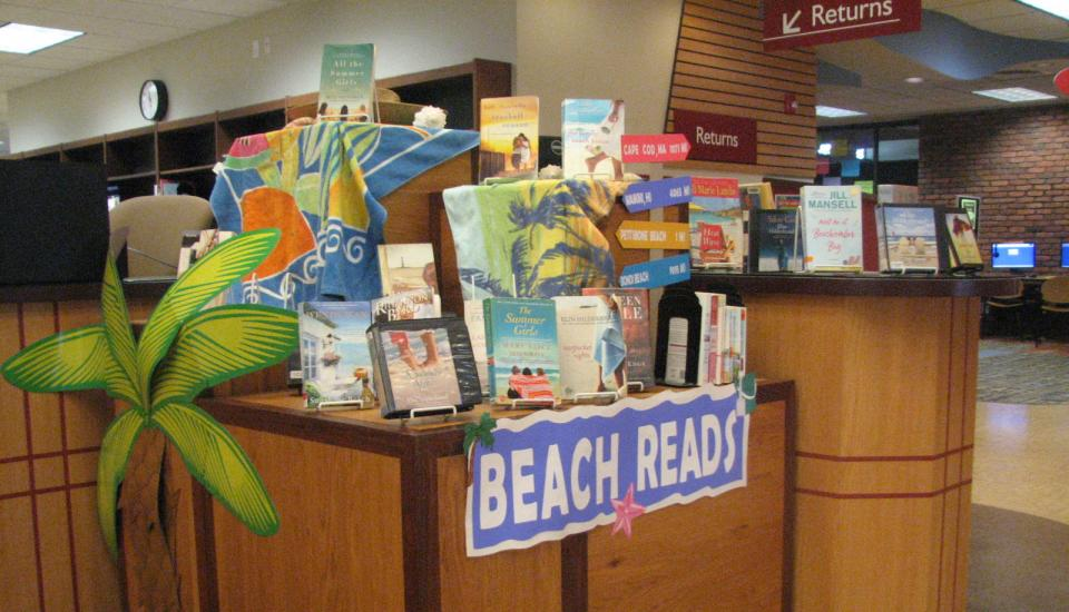 Book Display - Beach Reads
